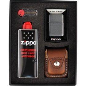 Set bricheta Zippo Chrome Brushed Brown