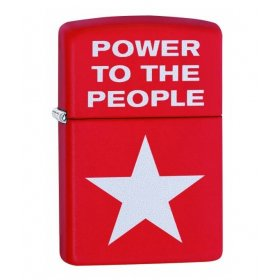 Bricheta Zippo Red Matte Power to the People