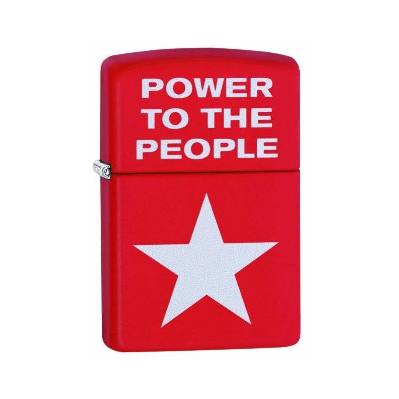 Bricheta Zippo Red Matte Power to the People