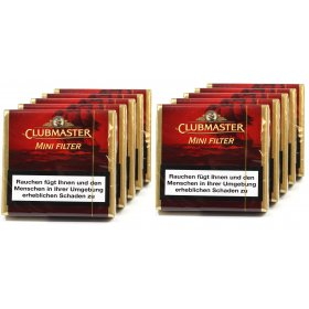 Tigari de foi Clubmaster Mini Filter Red 10 pachete