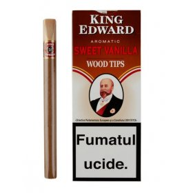 Tigari de foi King Edward Wood Tips Vanilla 5
