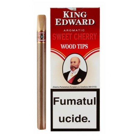 Tigari de foi King Edward Wood Tips Cherry 5