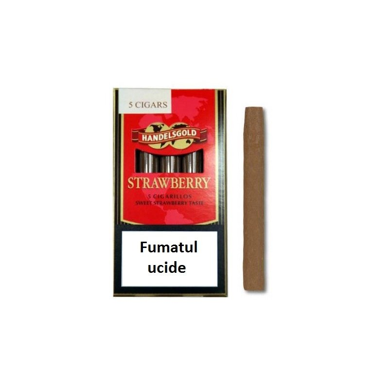Tigari de foi Handelsgold Strawberry Cigarillos 5