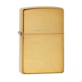 Bricheta Zippo 204 Brushed Brass w/Solid Brass Engraved
