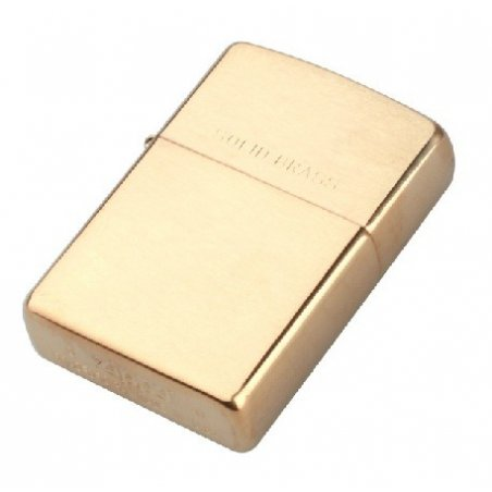 Bricheta Zippo 204 Brushed Brass w/Solid Brass Engraved