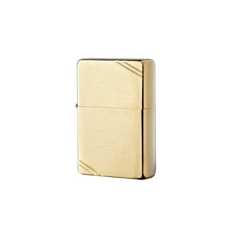 Bricheta Zippo 240 Vintage Brushed Brass Slashes
