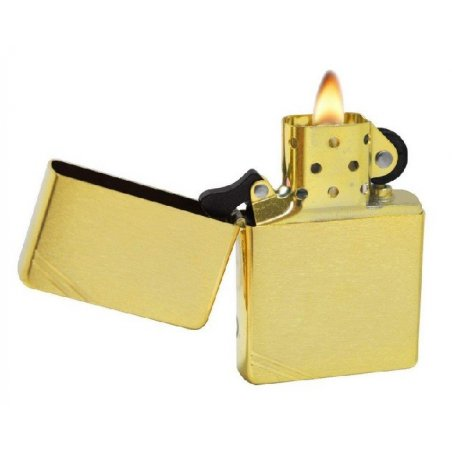 Bricheta Zippo 240 Vintage Brushed Brass Slashes