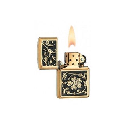 Bricheta Zippo 20903 Gold Floral Flourish