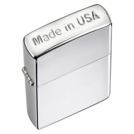 Bricheta Zippo 24796 Made in USA Crown Stamp High Polish Chrome