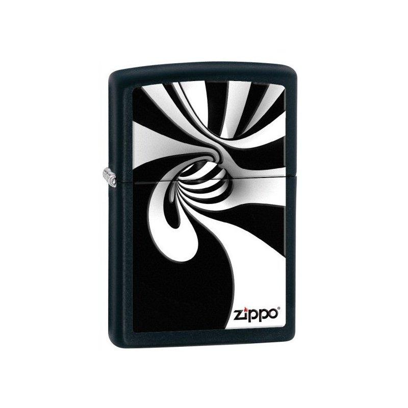 Bricheta Zippo 28297 Spiral Blk White