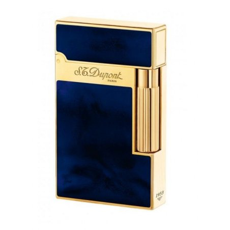 Bricheta S.T. Dupont Ligne 2 Atelier Blue Lacquer and Yellow Gold 016134