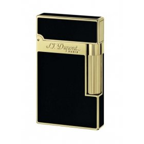 Bricheta S.T. Dupont Ligne 2 Black Lacquer and Gold 016884