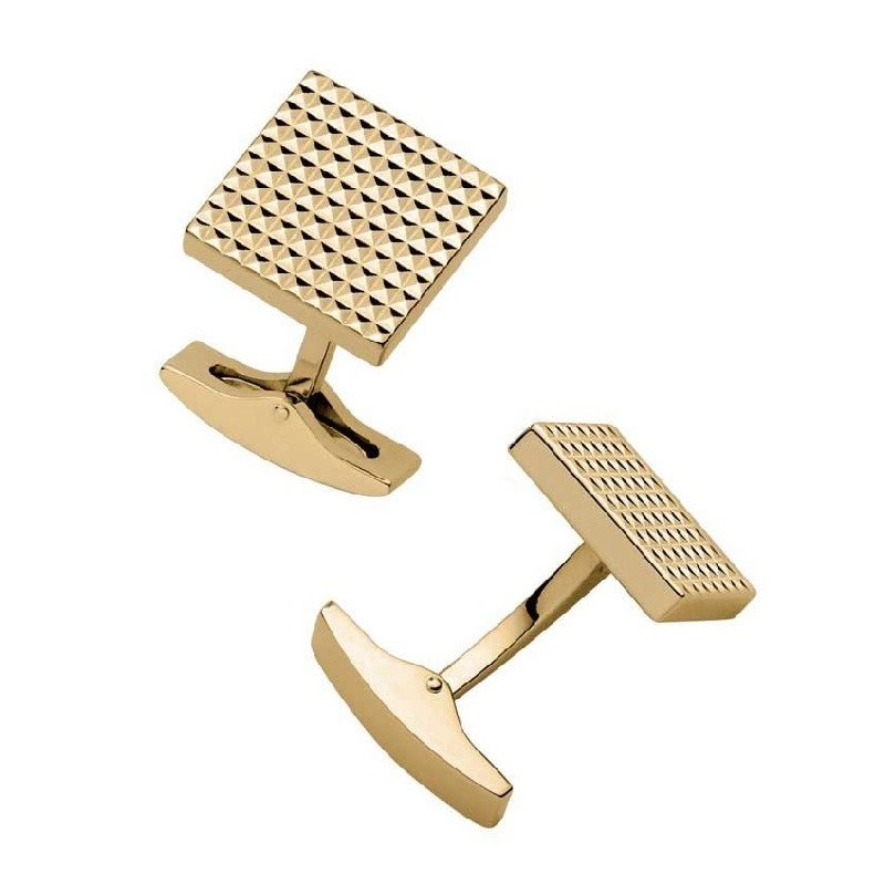 Butoni S.T. Dupont Diamond Head Square Yellow Gold Cufflinks 0051720R