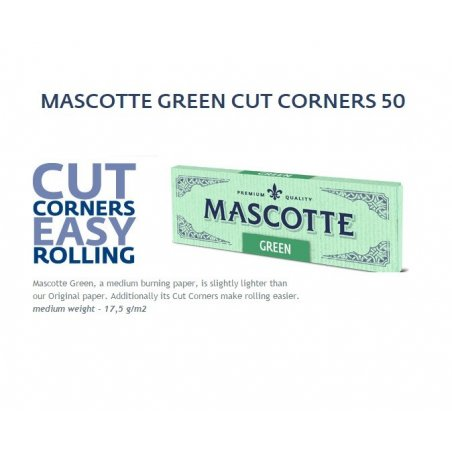 Foite de rulat Mascotte Green Cut Corners 50 pachete