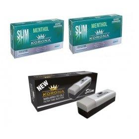 Set Korona Tuburi Slim Menthol 240 si aparat de injectat Slim