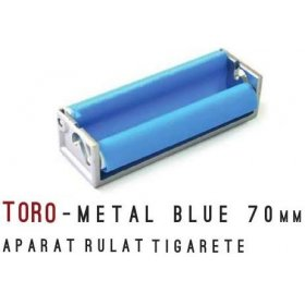 Aparat rulat tigarete metal Blue 70 mm Toro