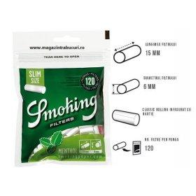 Filtre tigari Smoking Menthol Slim 120