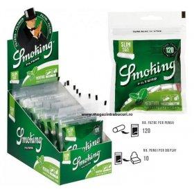 Filtre tigari Smoking Menthol Slim 10 pungi