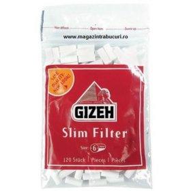 Filtre rulat tigari Gizeh Slim Red 120