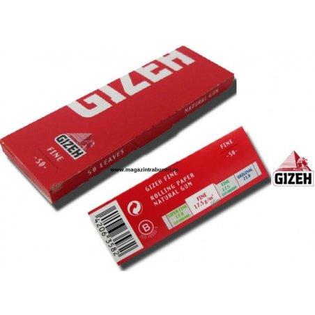 Foite rulat tigari Gizeh Fine Red 50