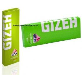 Foite rulat tigari Gizeh Super Fine Green 50