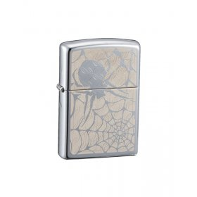 Bricheta Zippo 28052 High Polish Chrome Spider