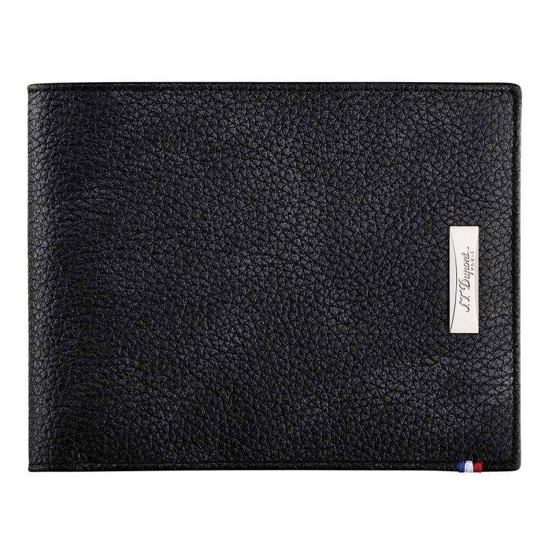 Portofel S.T.Dupont 180262 Soft Diamond Grained Black Leather